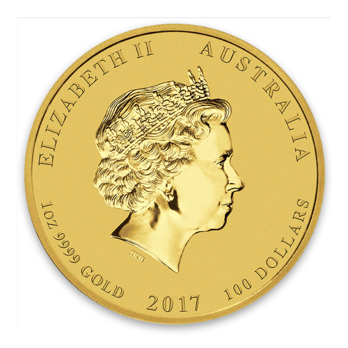 2017 1oz Australian Perth Mint Gold Lunar II: Year of the Rooster