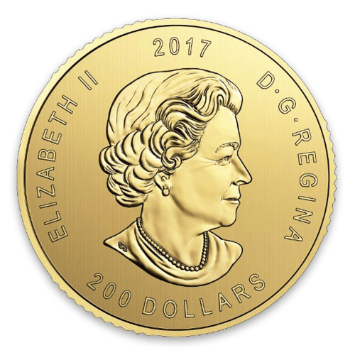 2017 1oz Canadian Gold Elk - 99999