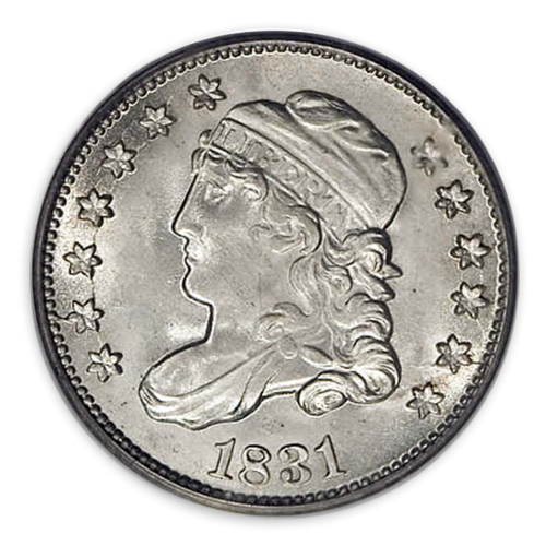 Capped Bust Half Dime (1829 - 1837) - XF+