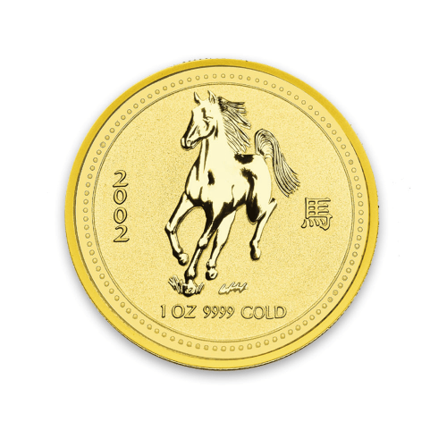 2002 1oz  Australian Perth Mint Gold Lunar: Year of the Horse