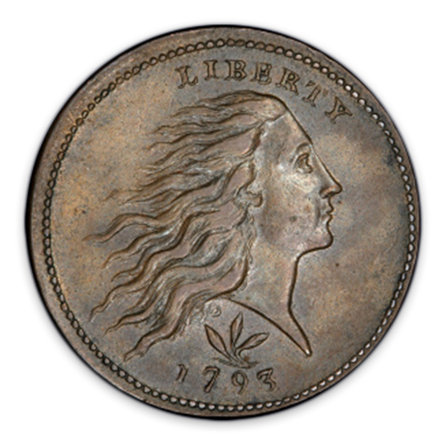 Large Cent Flowing Hair (1793 - 1796) - Circulated