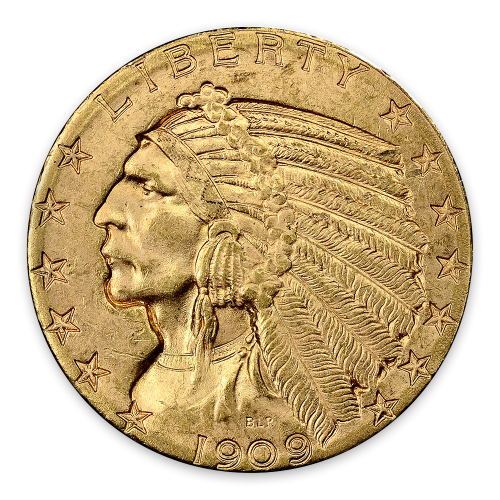 Indian $5 (1908 - 1929) - MS+