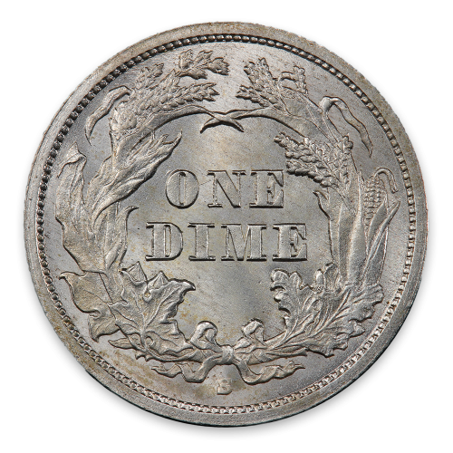 Liberty Seated Dime (1837 - 1891) - MS+