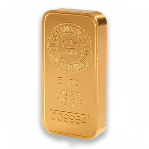 5oz RCM Gold Bar
