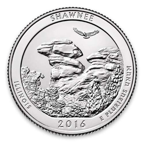 2016 America the Beautiful 5oz Silver - Shawnee National Forest, IL Missing some/all OGP
