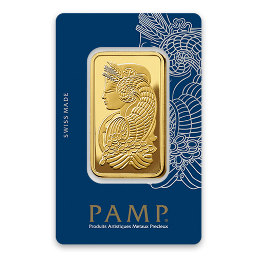 50g PAMP Gold Bar Fortuna