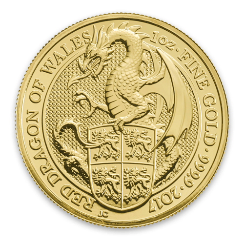 2017 1oz Britain Queen's Beasts: The Dragon