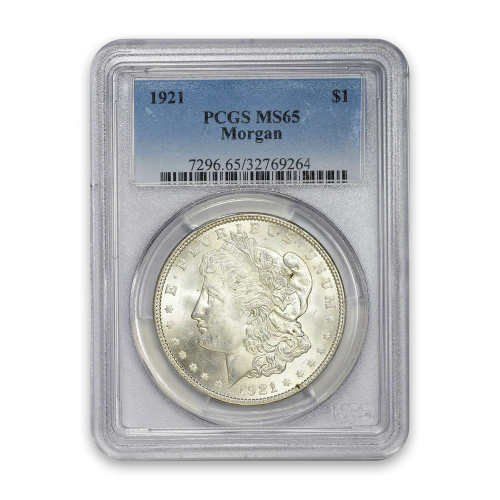 Morgan Dollar (1921) - PCGS - MS65