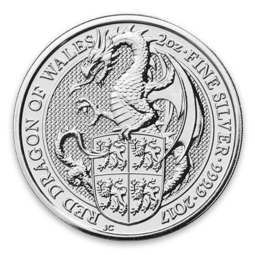2017 2oz Britain Queen's Beasts: The Dragon