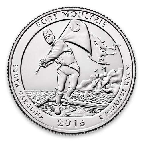 2016 America the Beautiful 5oz Silver - Fort Moultrie, SC Missing some/all OGP