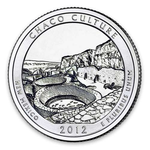2012 America the Beautiful 5oz Silver - Chaco Culture National Historical Park, NM NGC MS-70