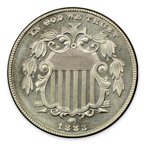 Shield Nickel (1866 - 1883) - MS+