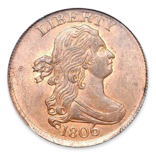 Half Cent Draped Bust (1800-1809) - Circulated