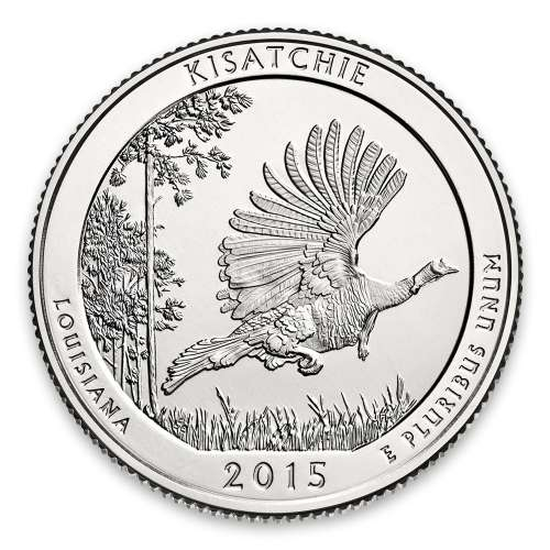 2015 America the Beautiful 5oz Silver - Kisatchie National Forest, LA with OGP