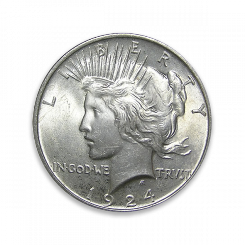 Peace Dollar (1922 - 1935) - Circulated.
