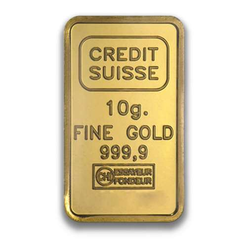 10g Credit Suisse Gold Bullion Bar