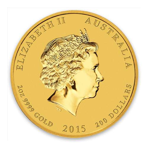 2015 2oz Australian Perth Mint Gold Lunar II: Year of the Goat
