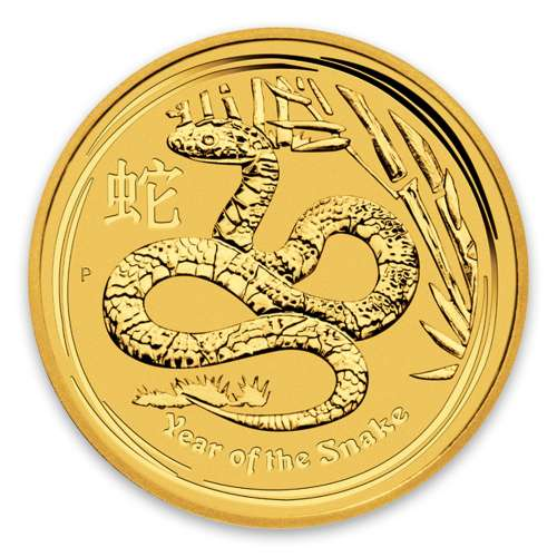 2013 1/2oz Australian Perth Mint Gold Lunar II: Year of the Snake