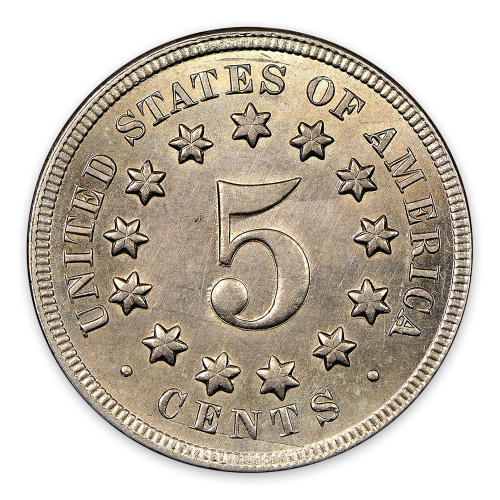 Shield Nickel (1866 - 1883) - XF