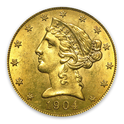 Liberty Head $5 (1839 – 1908) - MS+