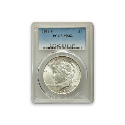 Peace Dollar (1922 - 1935) - PCGS - MS62