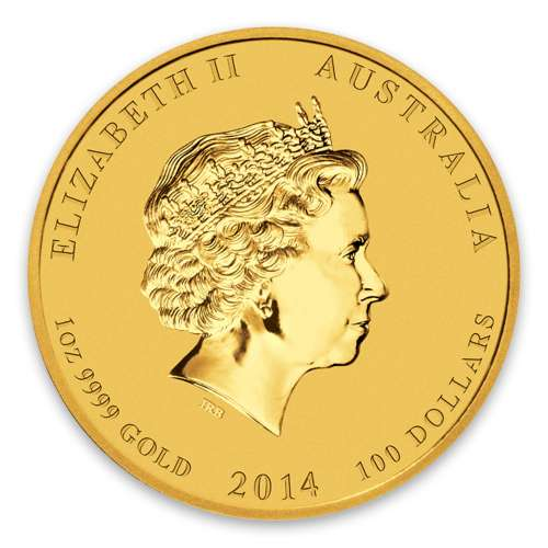 2014 1oz Australian Perth Mint Gold Lunar II: Year of the Horse