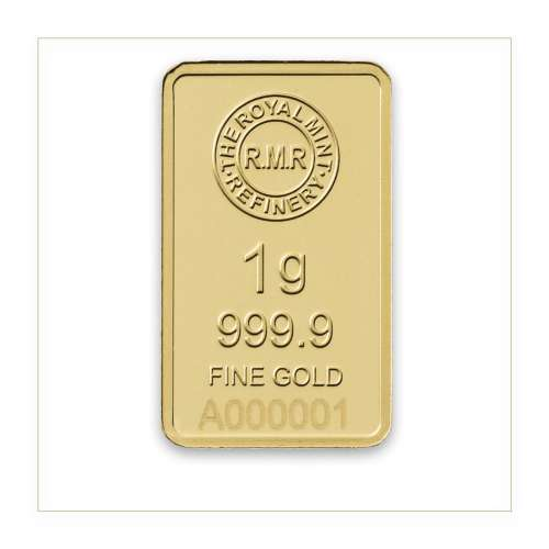 1g Royal Mint Refinery Minted Gold Bar