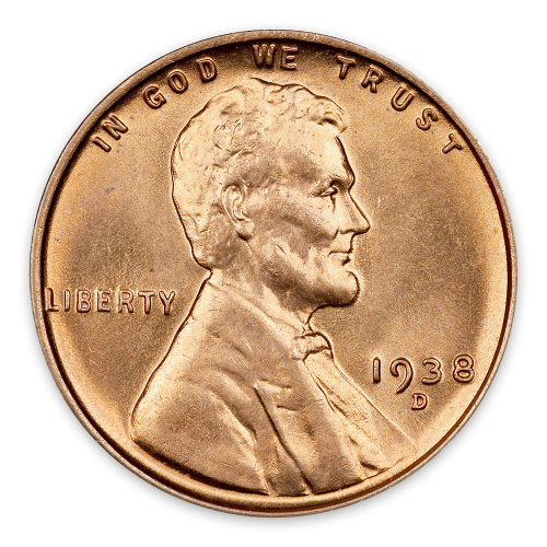 Cent - Lincoln Wheat Ear reverse - MS+