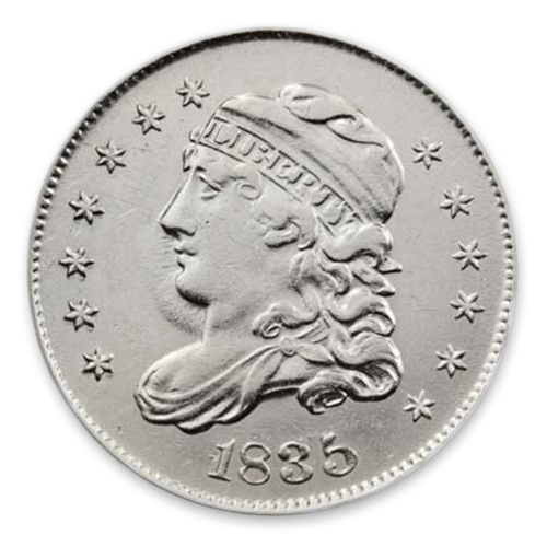 Capped Bust Half Dime (1829 - 1837) - Circ
