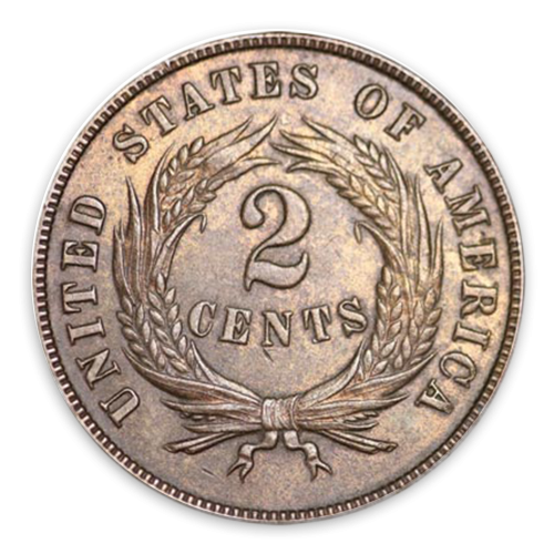 Two Cents (1864 - 1873) - MS+