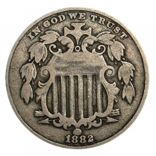 Shield Nickel (1866 - 1883) - Circ