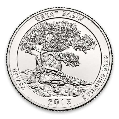 2013 America the Beautiful 5oz Silver - Great Basin National Park, NV Missing some/all OGP